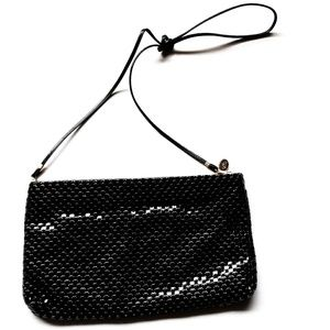 Whiting and Davis Vintage Black Crossbody Bag